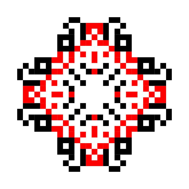 Текстовий слов'янський орнамент: В!КТОР!Я