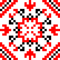 Текстовый украинский орнамент: Борис