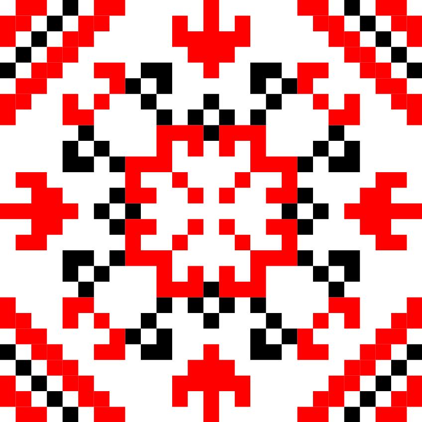 Текстовий слов'янський орнамент: Борис