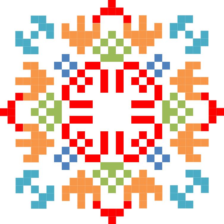 Текстовий слов'янський орнамент: родина