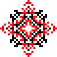 Текстовый украинский орнамент: посмiшка