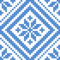 Текстовый украинский орнамент: Звезда (гармония и порядок)