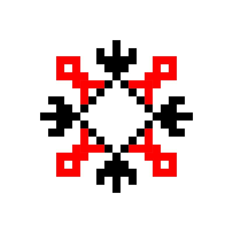 Текстовий слов'янський орнамент: лиля