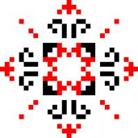 Текстовый украинский орнамент: марiя