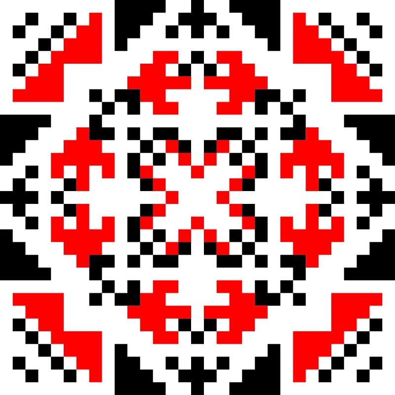 Текстовий слов'янський орнамент: Лисиця