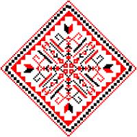 Текстовый украинский орнамент: Ольга-Українка
