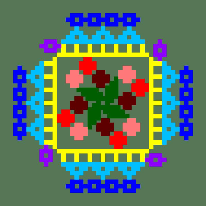 Текстовий слов'янський орнамент: ДЕНЬ НАРОДЖЕННЯ