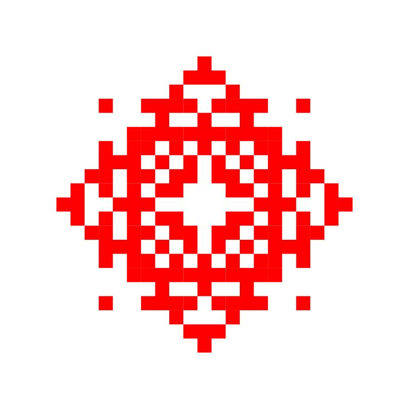 Текстовий слов'янський орнамент: Ж!НКА
