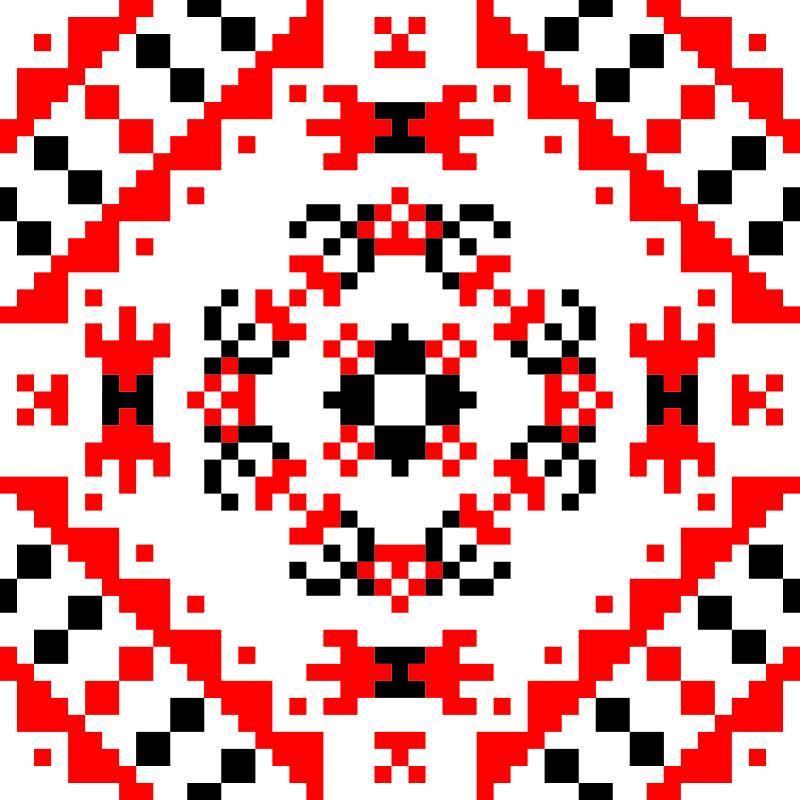 Текстовий слов'янський орнамент: Годинник
