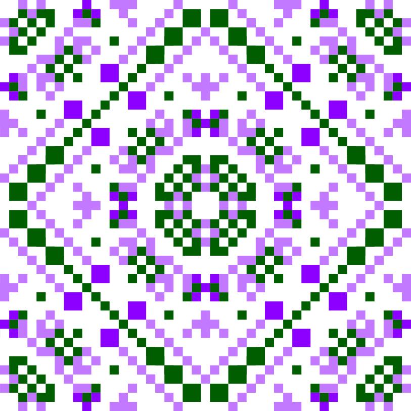 Текстовий слов'янський орнамент: Орхідея