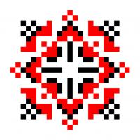 Текстовый украинский орнамент: ВЯЧЕСЛАВ