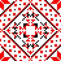 Текстовый украинский орнамент: Мамуля