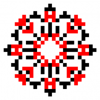 Текстовый украинский орнамент: Світлана