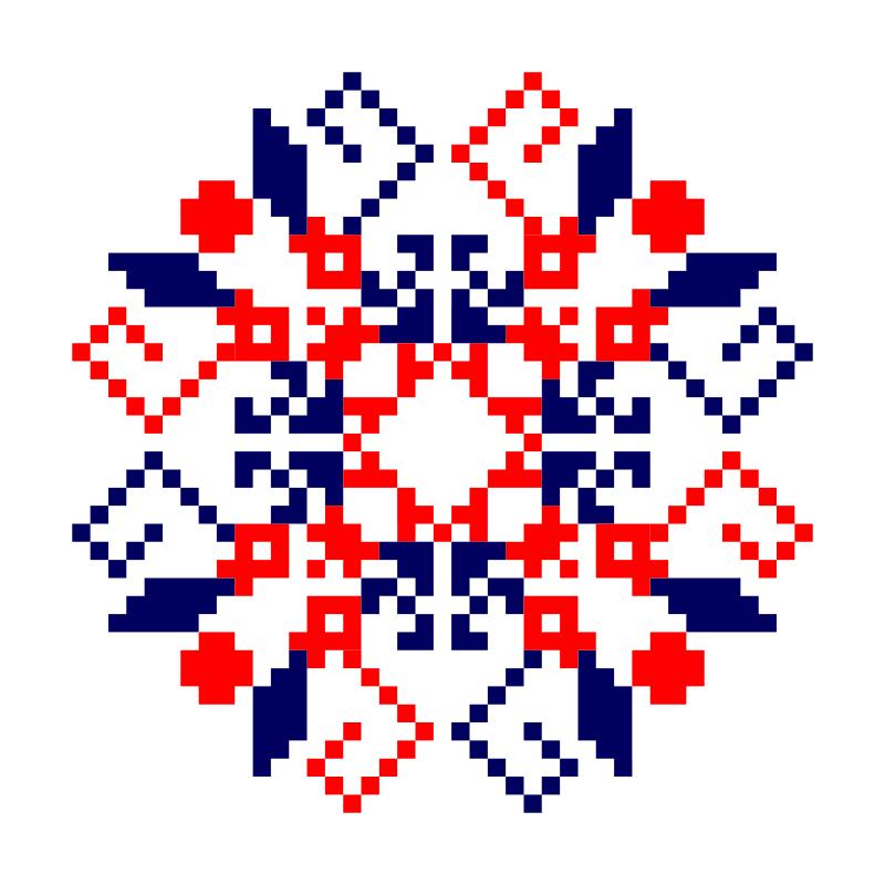 Текстовий слов'янський орнамент: Магась