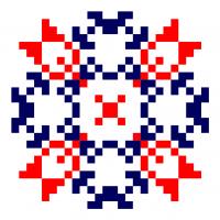 Текстовый украинский орнамент: Ірина