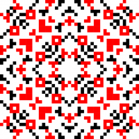 Текстовый украинский орнамент: молодята