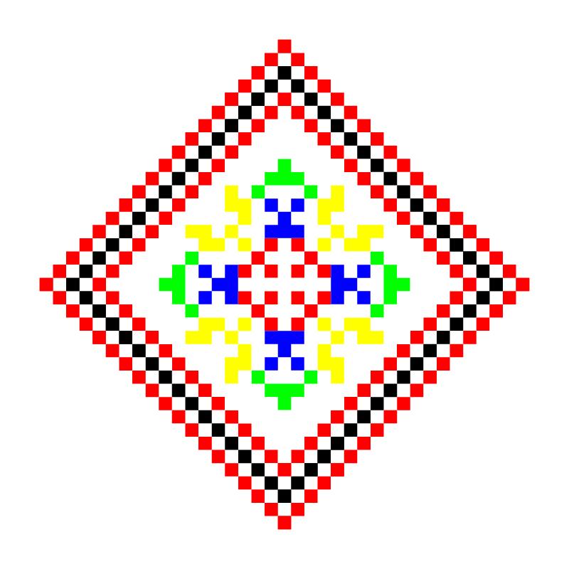 Текстовий слов'янський орнамент: ткач