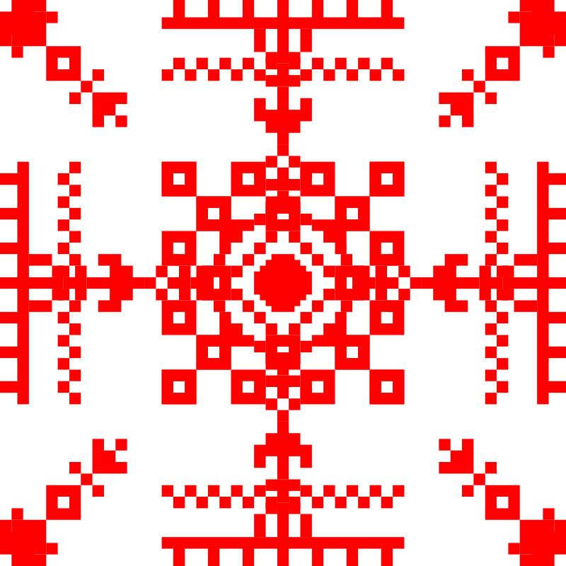 Текстовий слов'янський орнамент: Орнамент 2