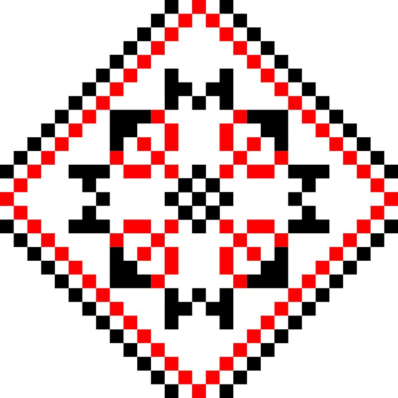 Текстовий слов'янський орнамент: зима