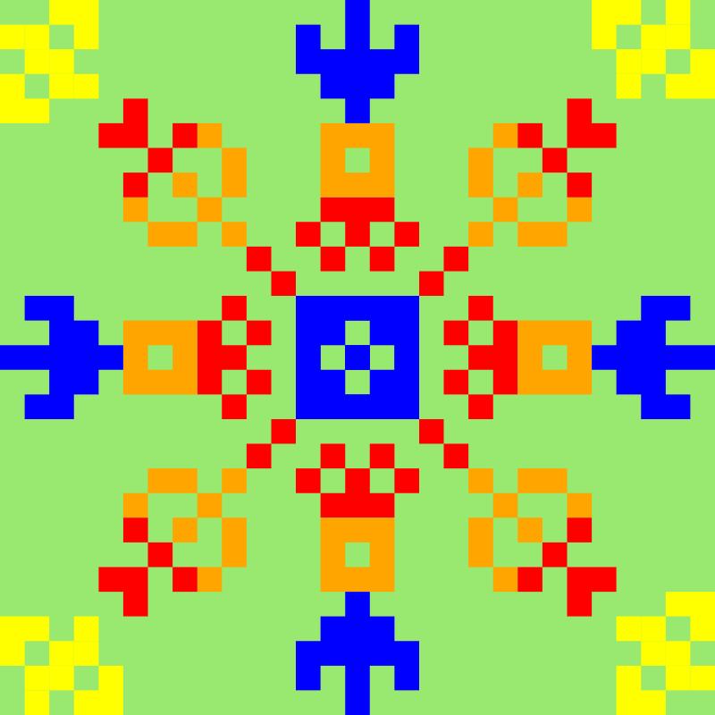 Текстовий слов'янський орнамент: Виктория