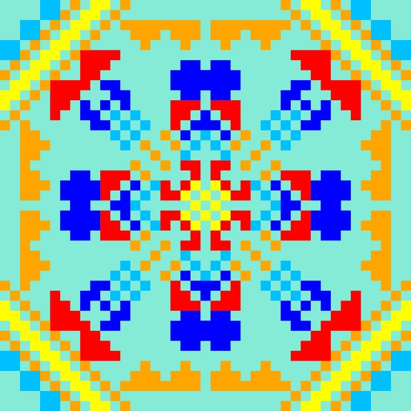 Текстовий слов'янський орнамент: светлана