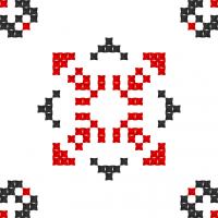Текстовый украинский орнамент: діана