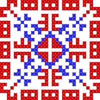 Текстовый украинский орнамент: Божена