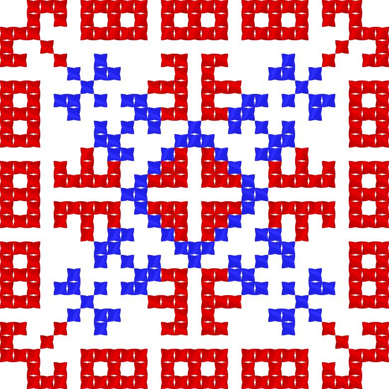 Текстовий слов'янський орнамент: Божена