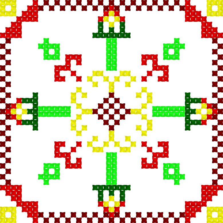 Текстовий слов'янський орнамент: Утримання тривоги