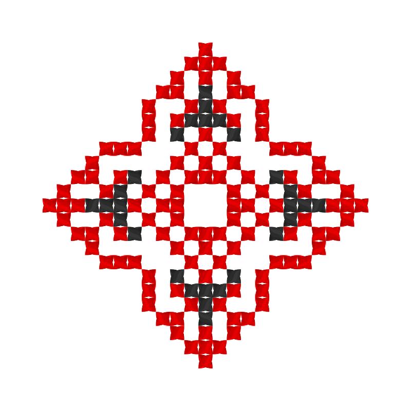 Текстовий слов'янський орнамент: Дар'я