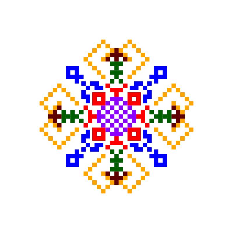 Текстовий слов'янський орнамент: донечка катя