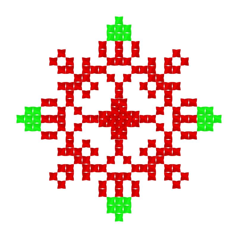 Текстовий слов'янський орнамент: вах канфетка