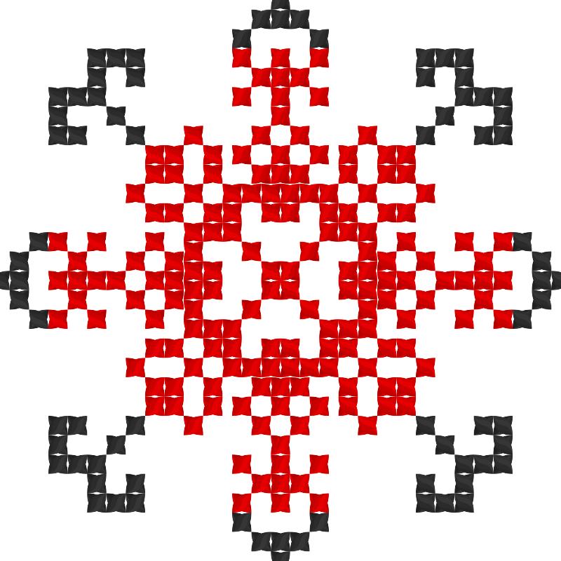 Текстовий слов'янський орнамент: вах