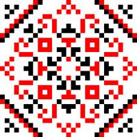 Текстовый украинский орнамент: красота