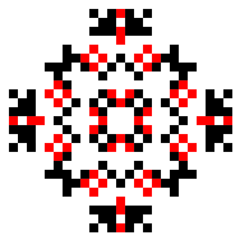 Текстовий слов'янський орнамент: Соломія