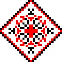 Текстовый украинский орнамент: ЛИСАК