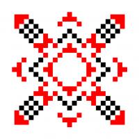 Текстовый украинский орнамент: алмаза