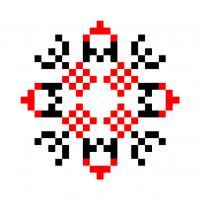Текстовый украинский орнамент: зима