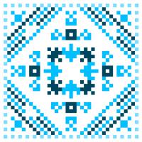 Текстовый украинский орнамент: ИГОРЬ