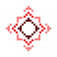 Текстовый украинский орнамент: алла