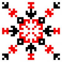 Текстовый украинский орнамент: богиня
