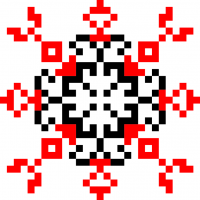 Текстовый украинский орнамент: бабочка