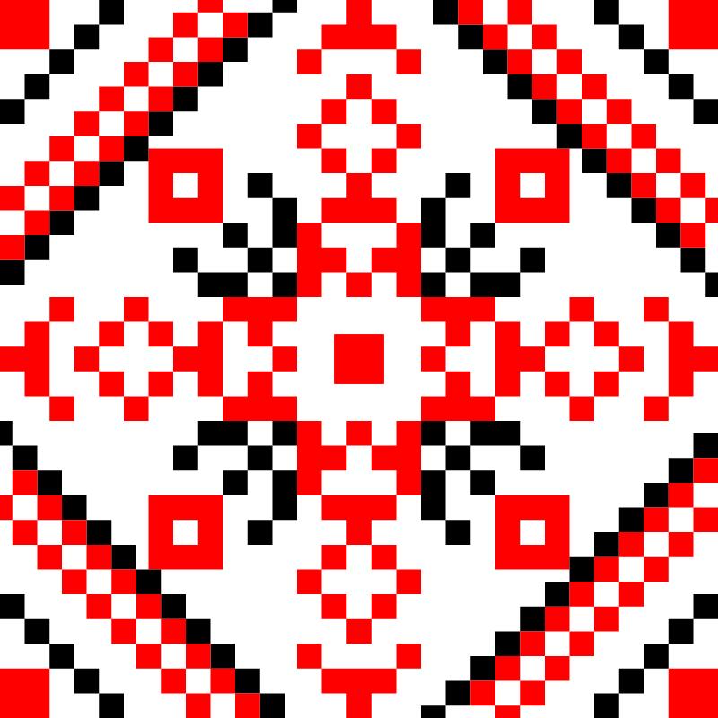 Текстовий слов'янський орнамент: Микола