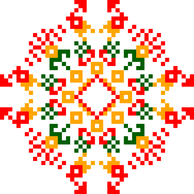 Текстовий слов'янський орнамент: Ljubov i Semya