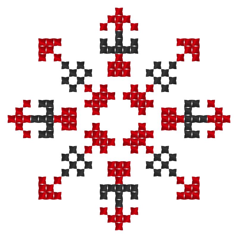 Текстовий слов'янський орнамент: Гея