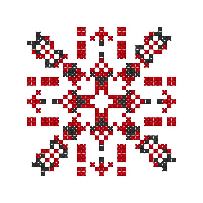 Текстовий слов'янський орнамент: Надія і Максим