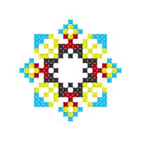 Текстовый украинский орнамент: микола