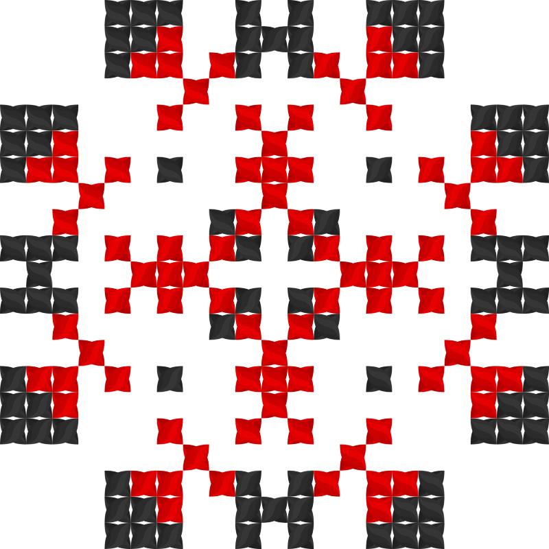 Текстовий слов'янський орнамент: Жінка