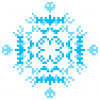 Текстовый украинский орнамент: Блакитний