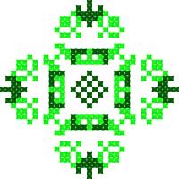 Текстовый украинский орнамент: Зелений